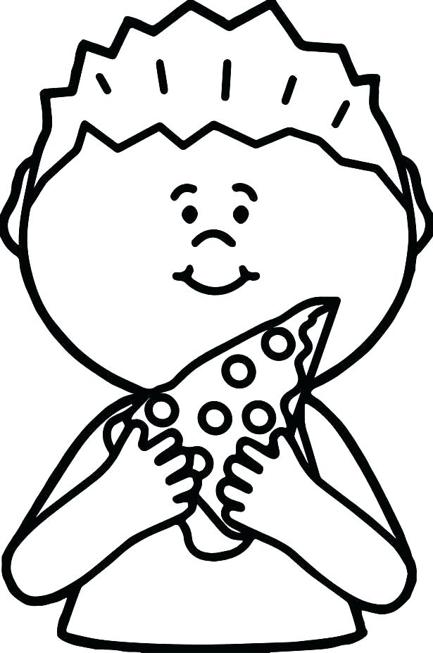 615x928 Pizza Coloring Pages Pepperoni Pizza Coloring Pages Pepperoni