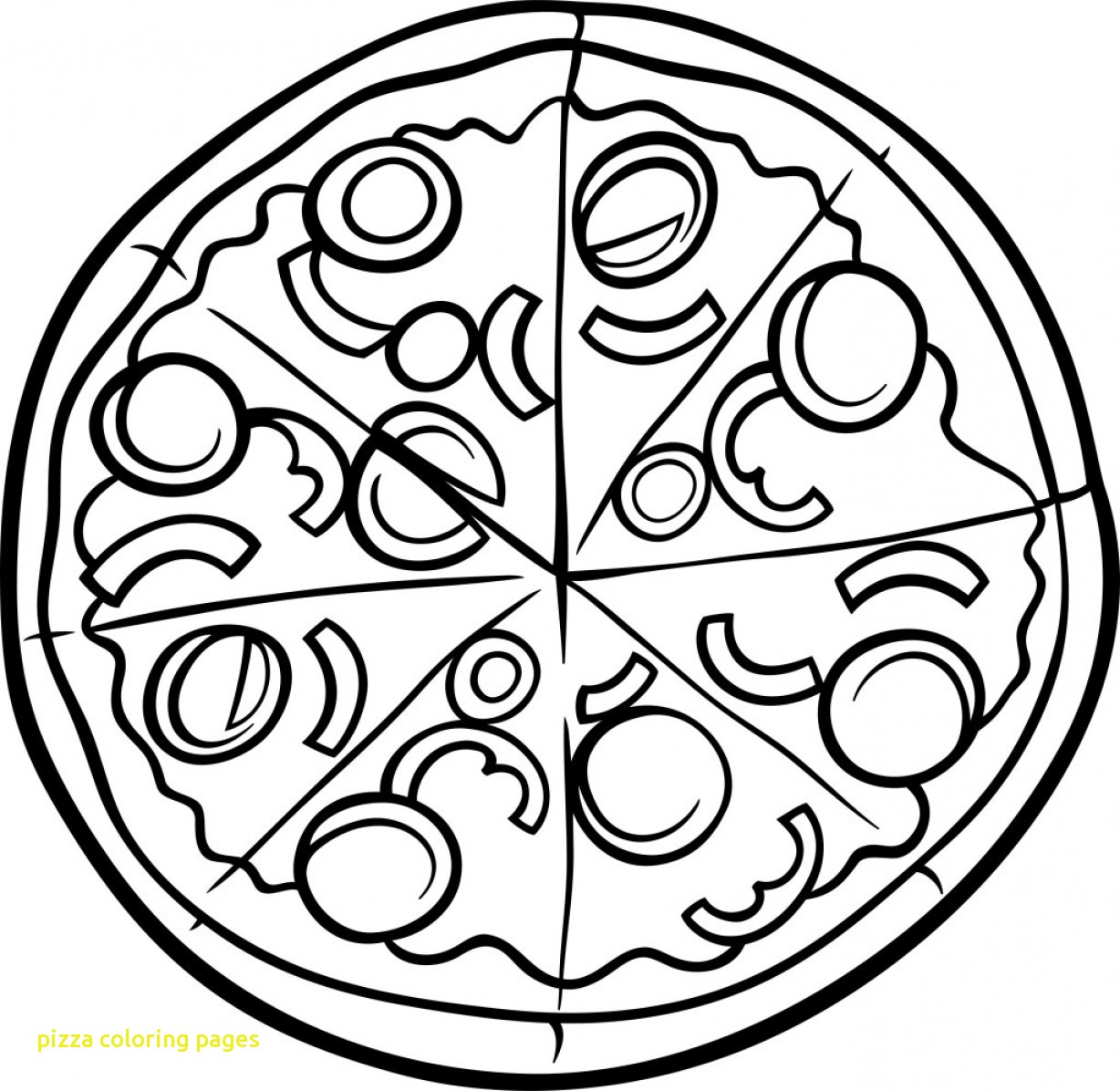 1228x1196 Pizza Coloring Pages With Pizza Coloring Pages Coloringsuite
