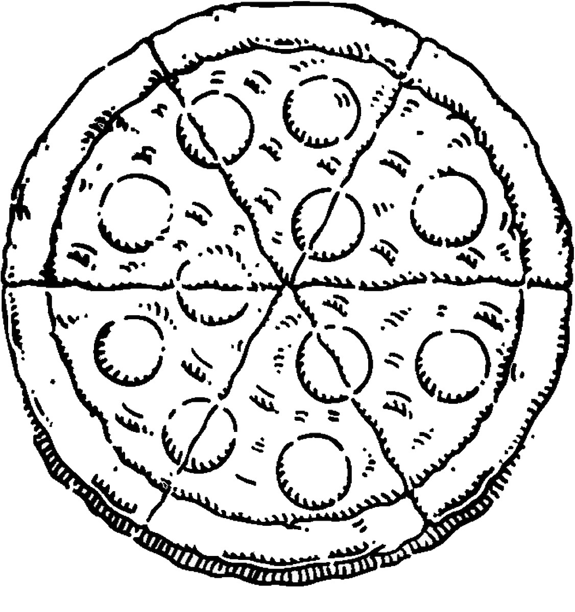 1126x1200 Pizza Coloring Pages