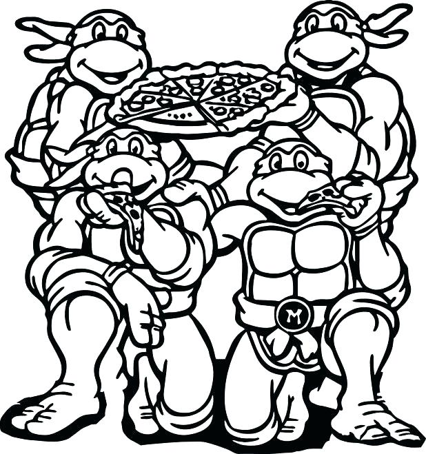 618x659 Free Printable Pizza Coloring Pages Coloring Page Pizza Ninja