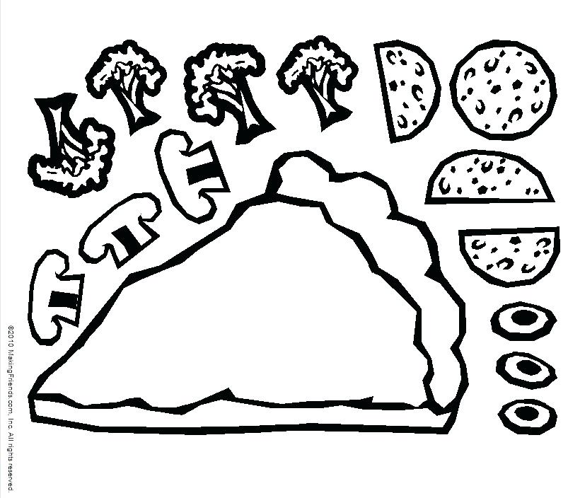803x704 Make A Pizza Coloring Page Pizza Coloring Pages Pizza Coloring