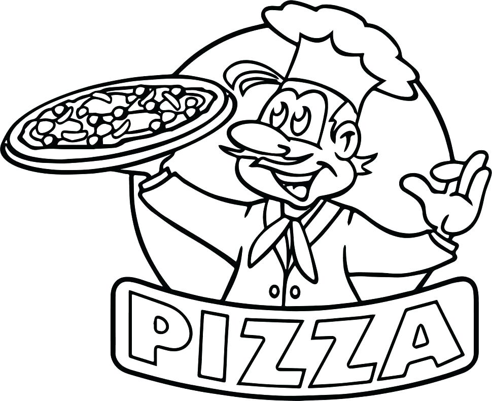 970x790 Pizza Coloring Book As Well As Pizza Coloring Pages To Print Pizza