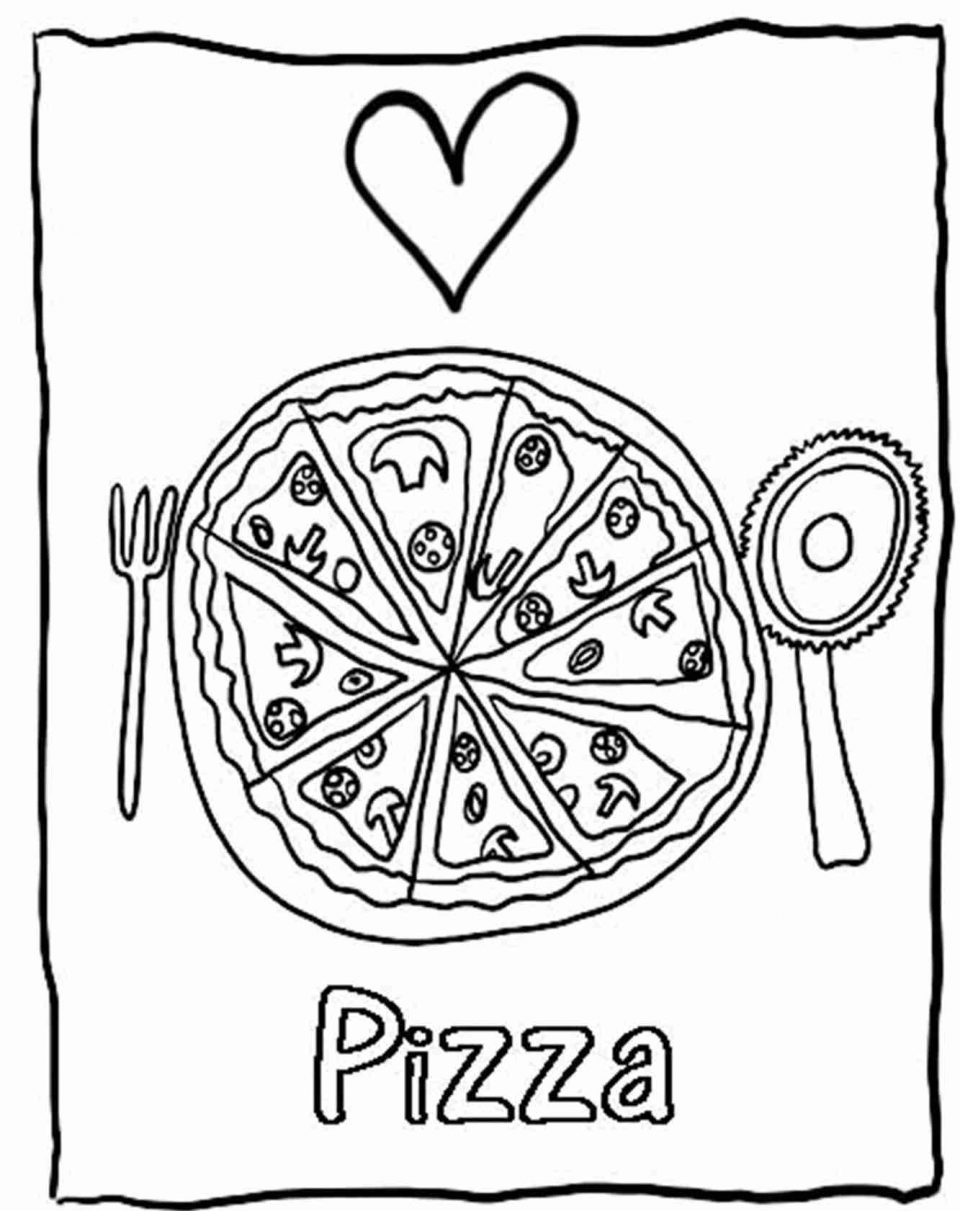 960x1211 Pizza Coloring Page Image Ideas Slice Of Pages Food Foods