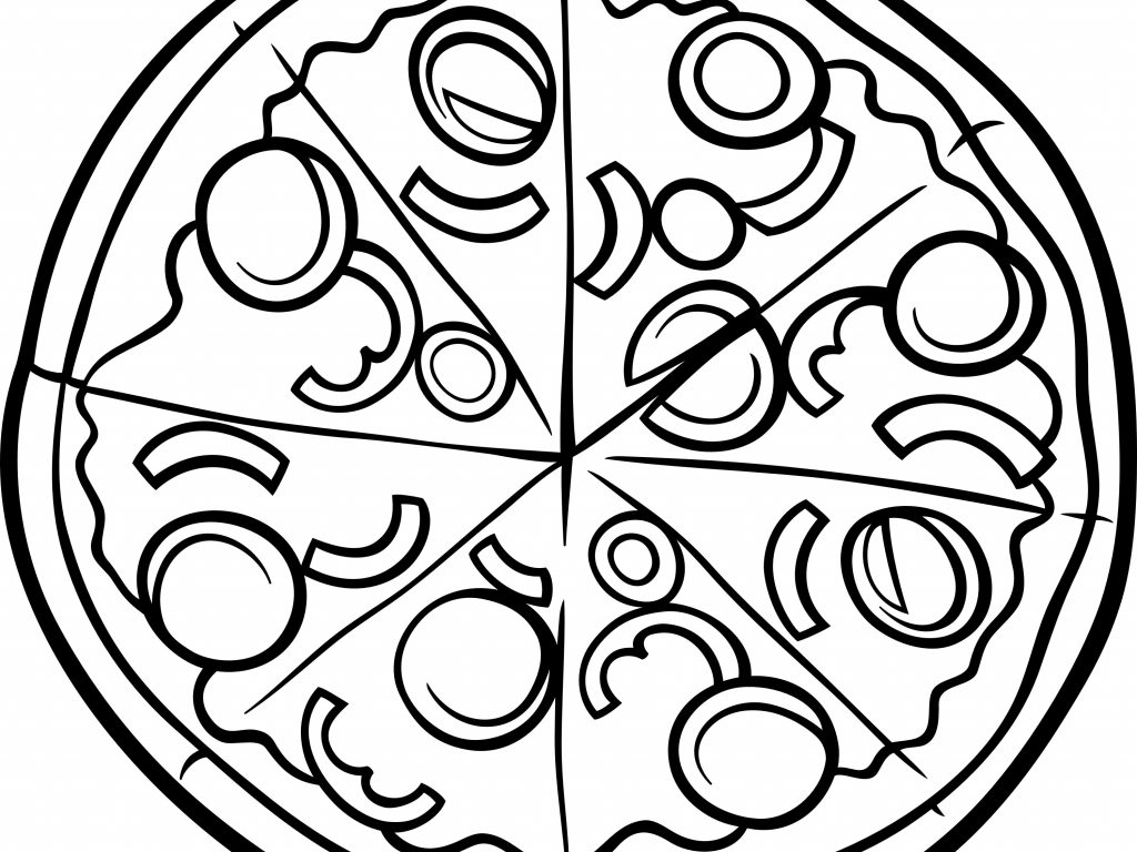 1024x768 Pizza Coloring Pages Pizza Coloring Page Printable