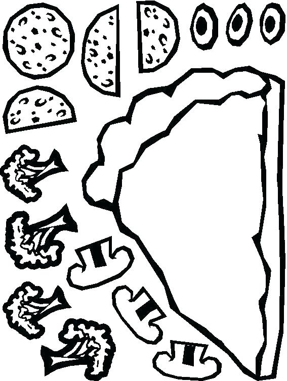 567x754 Pizza Coloring Pages Pizza Coloring Pages Coloring Page Pizza Free