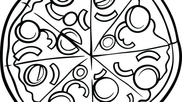 585x329 Coloring Pages Pizza