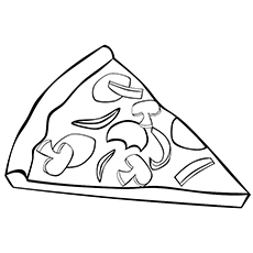 Pizza Coloring Pages To Print
