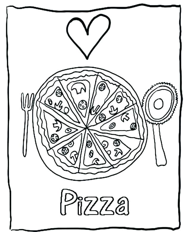 618x779 Coloring Pictures Of Pizza Pizza Coloring Pizza Coloring Pages