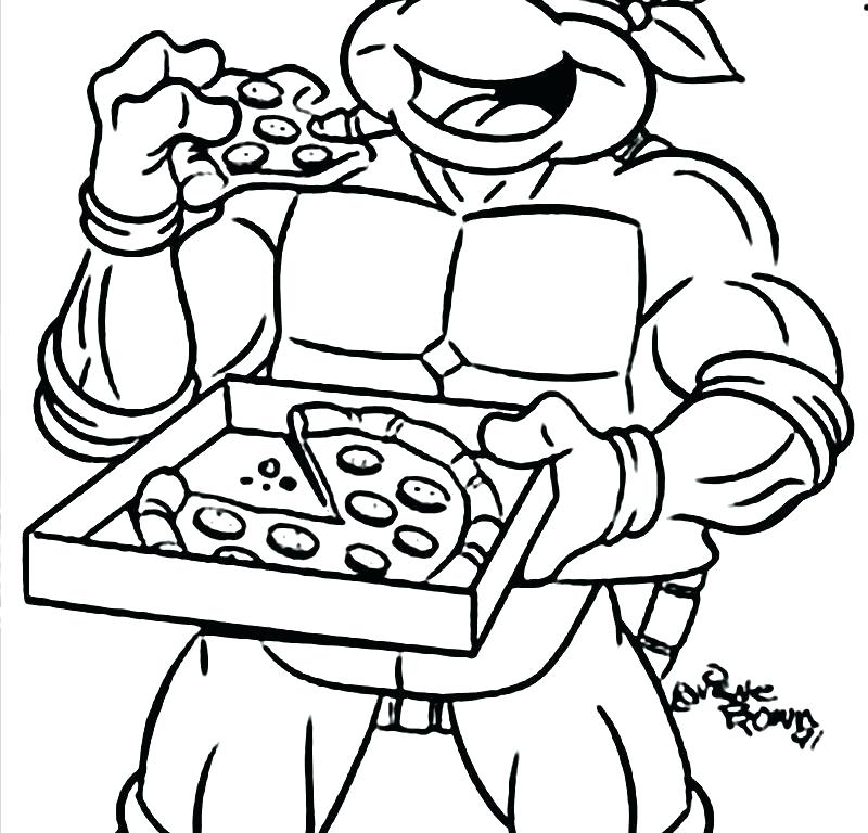 800x768 Dklt Coloring Pages Coloring Pages Pizza Ninja Turtle Cartoon