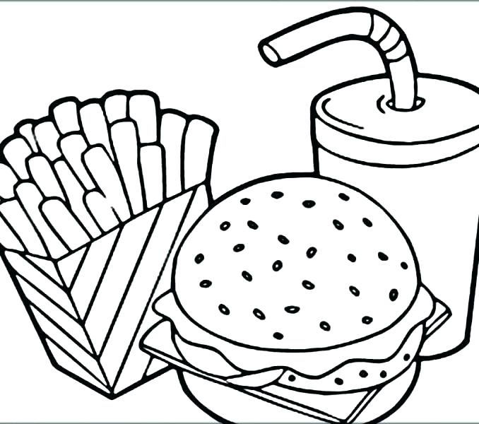 678x600 Make A Pizza Coloring Page Pizza Coloring Pages Food Colouring