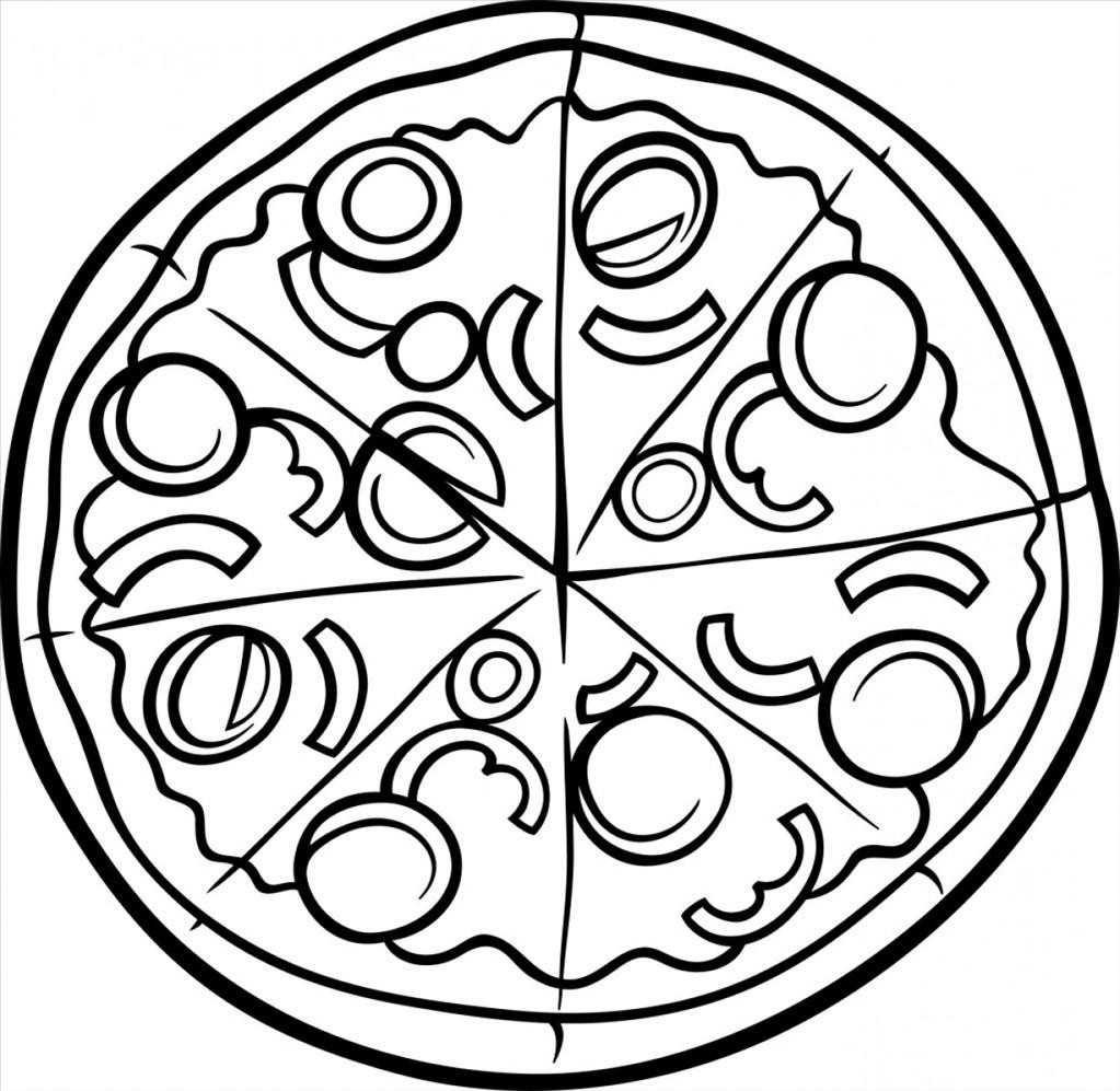 1023x997 Pizza Coloring Pages Best Wallpapers Unknown Resolutions High