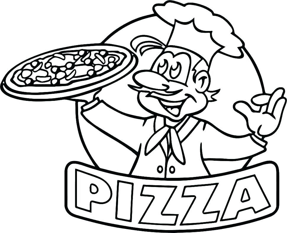 970x790 Pizza Coloring Pages Coloring Page Pizza Download Coloring Pages