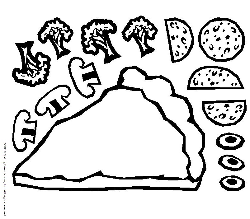 803x704 Pizza Coloring Pages For Childrens Printable For Free