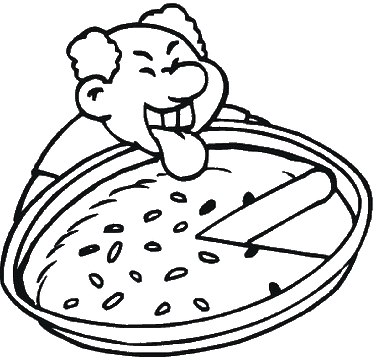 1200x1138 Pizza Coloring Pages