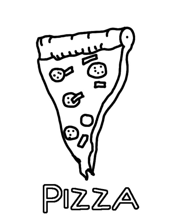 580x725 Pizza Coloring Pages Slice