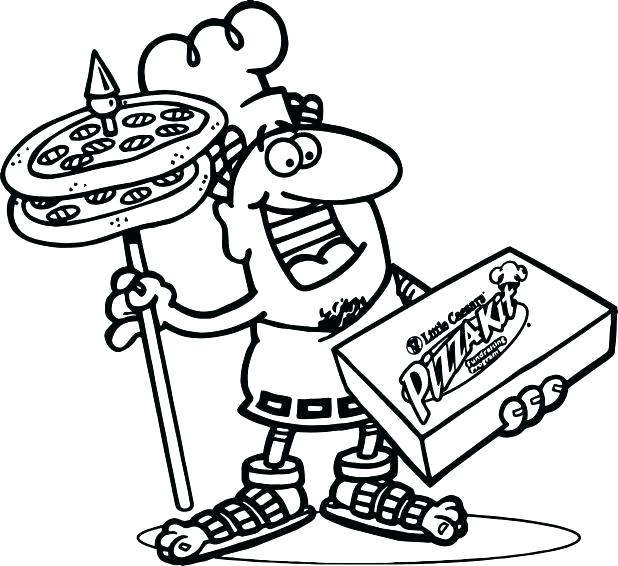 618x566 Coloring Page Of Pizza