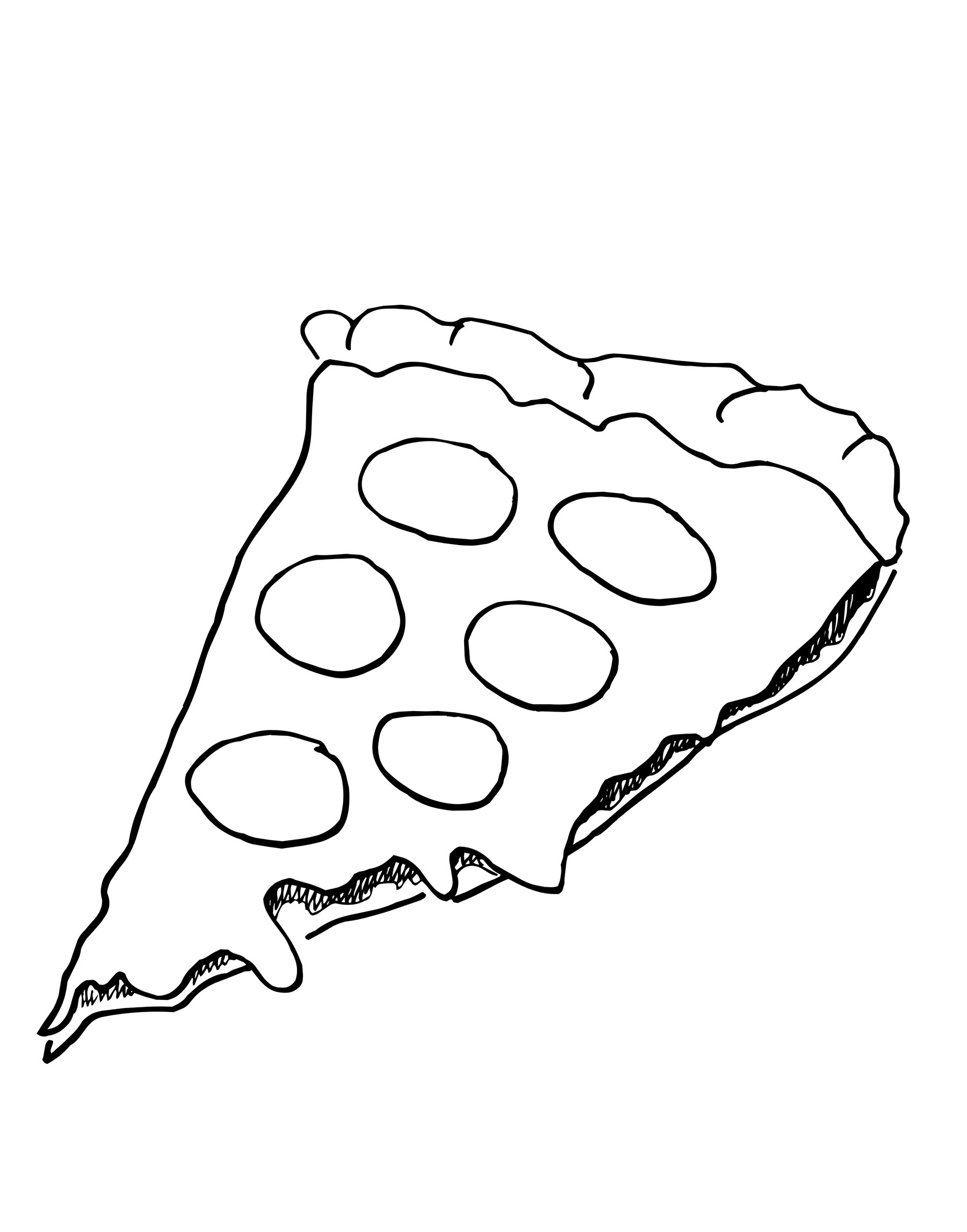 1800x2294 Coloring Pages Of Food Pizza Free For Kids To Print And Color