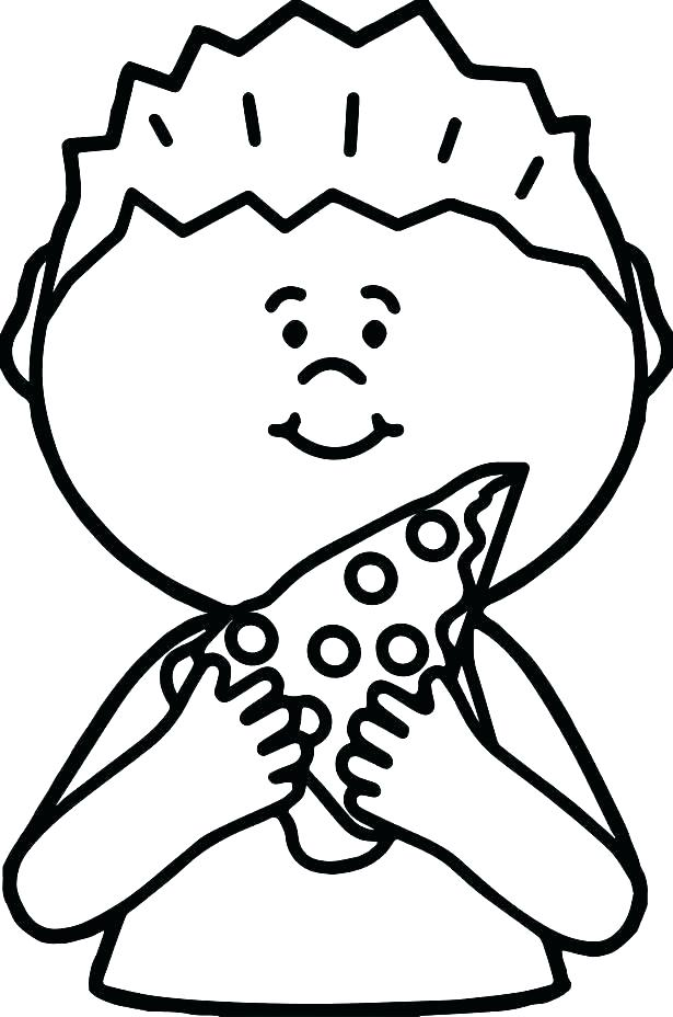 615x928 Coloring Pages Surprising Pizza Slice Coloring Page Cheese Pizza
