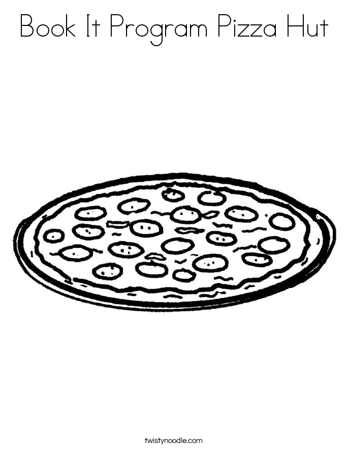 685x886 Book It Program Pizza Hut Coloring Page