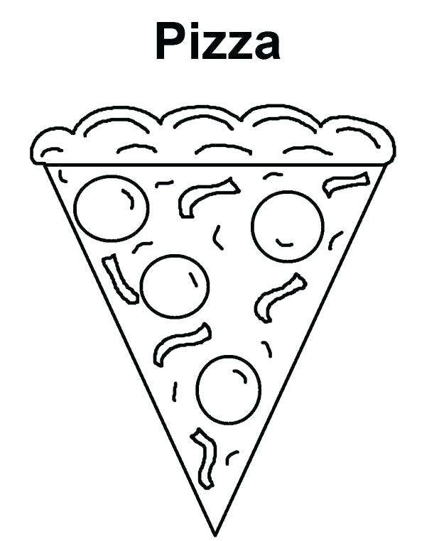 618x762 Pizza Coloring Pages Coloring Pages Of Food Food Coloring Pages