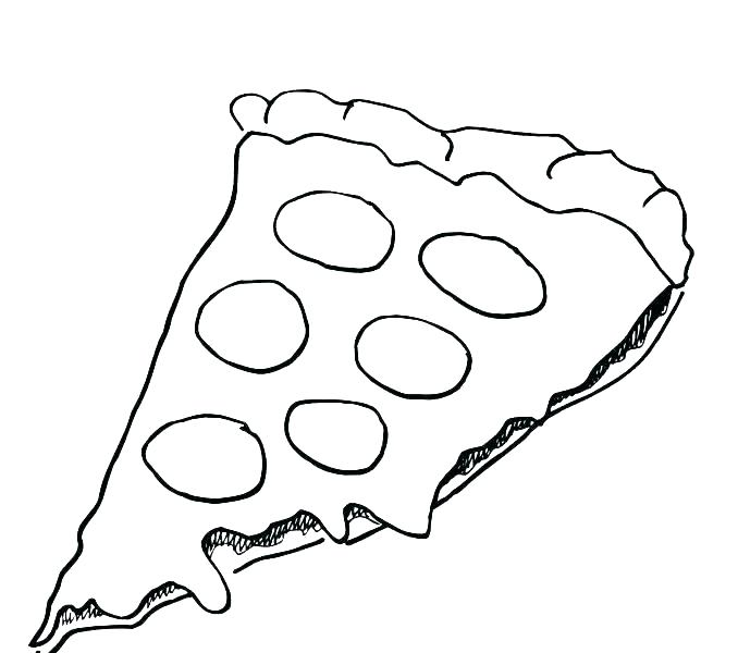 678x600 Coloring Page Pizza