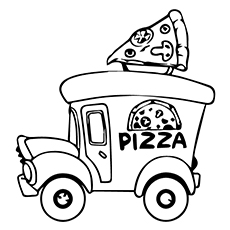 Pizza Slice Coloring Page