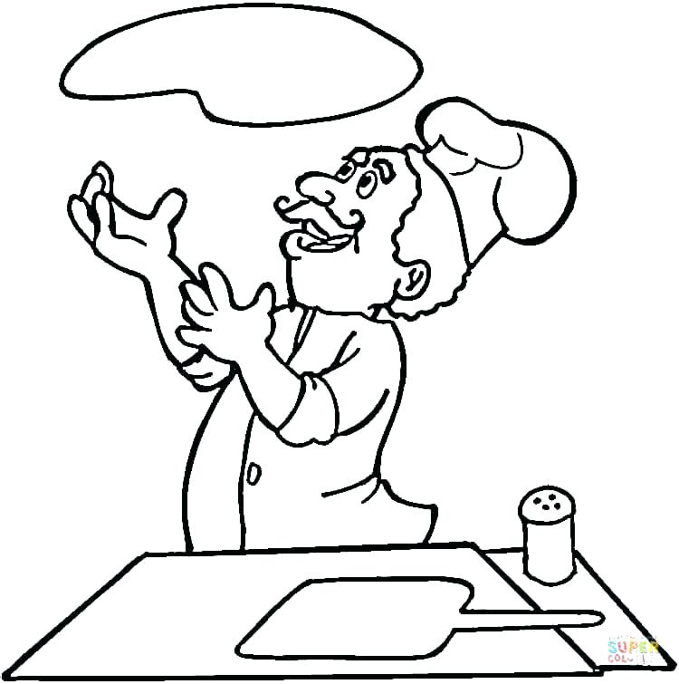 750x755 Pizza Coloring Pages Cooking Coloring Pages Is Cooking Pizza