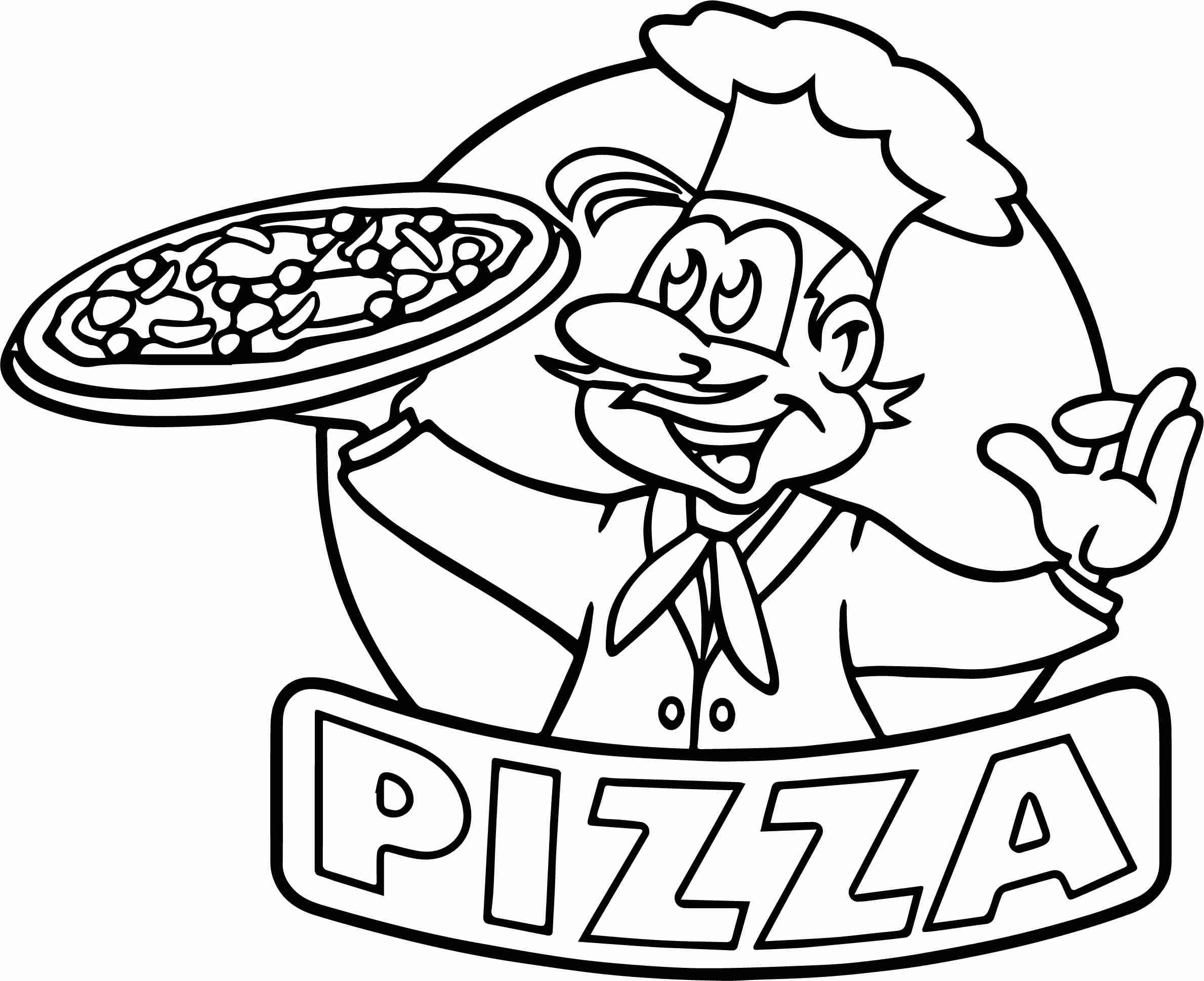 2379x1938 Cartoon Picture Of Pizza Coloring Page Wecoloringpage Brilliant
