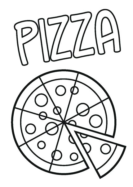 429x600 Pizza Coloring Pages Exciting Pizza Coloring Pages For Free