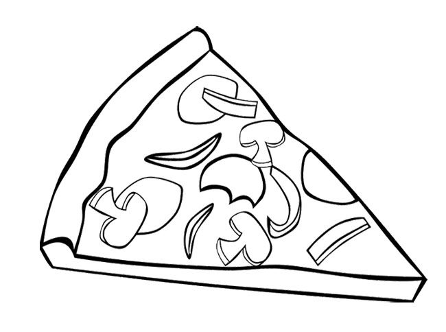 650x484 Pizza Coloring Pages