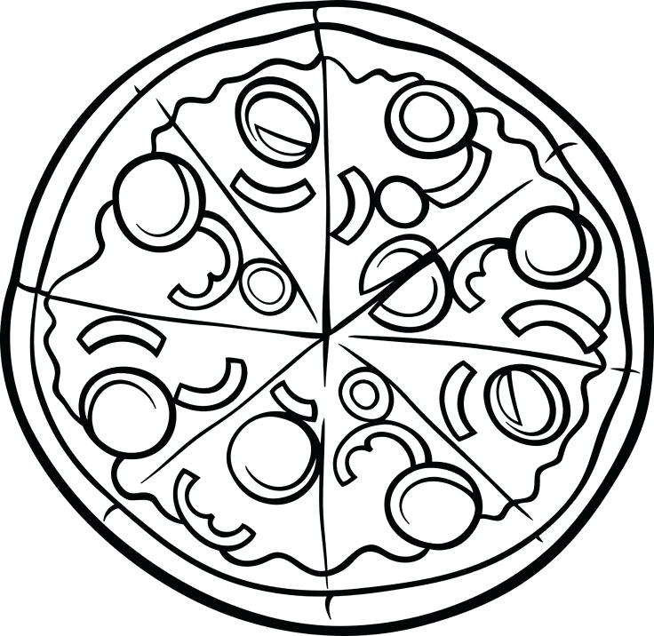 736x716 Coloring Page Pizza Pizza Colouring Page To Help Them Learn Math