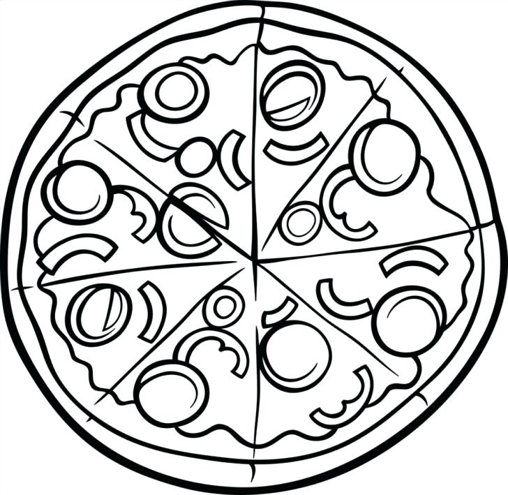 728x709 Pizza Coloring Pages Medium Size Of Pizza Coloring Page