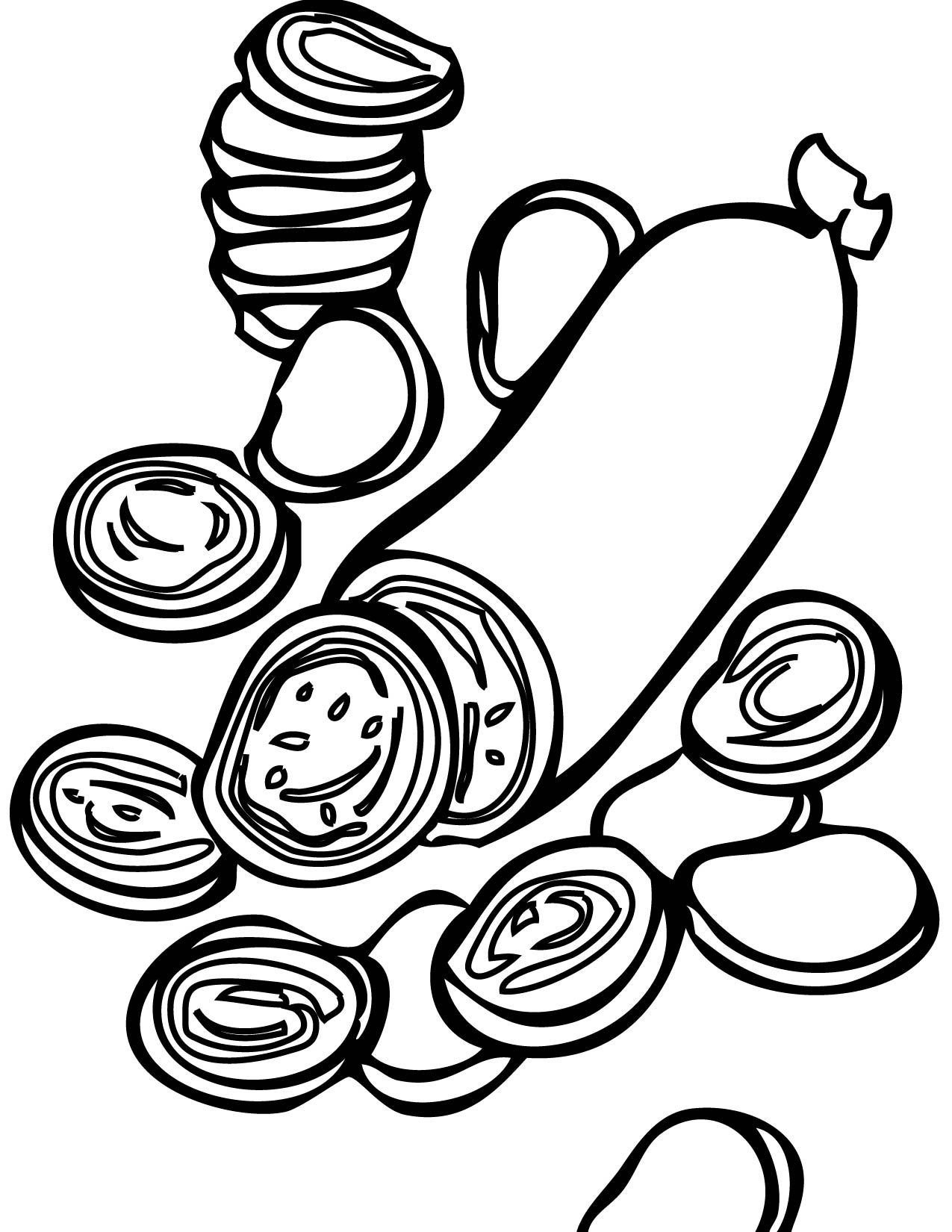 1275x1650 Pizza Toppings Coloring Page