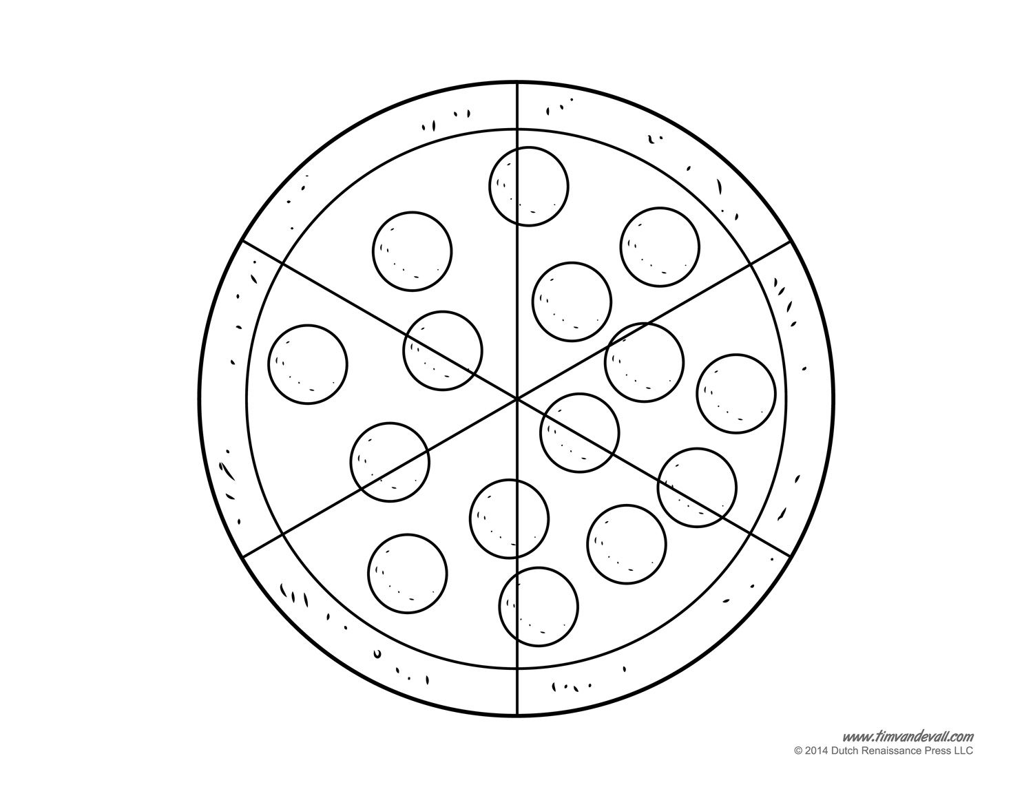 1500x1159 Pizza Coloring Pages