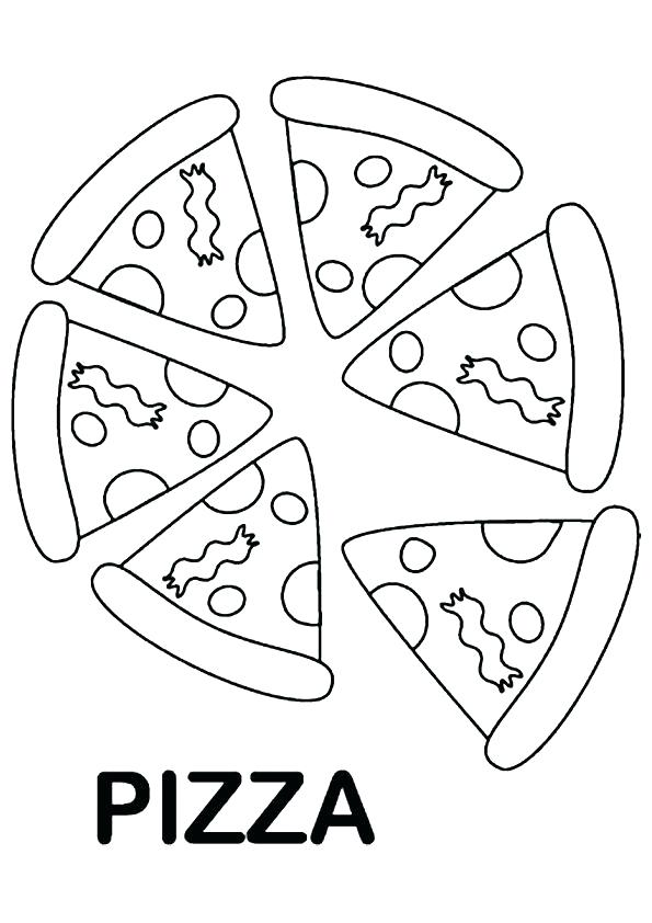 595x842 Coloring Pages Pizza Great Pizza Coloring Pages Wall Picture