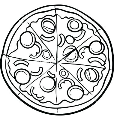 380x400 Coloring Pages Pizza Sliced Pizza Coloring Page Free Printable