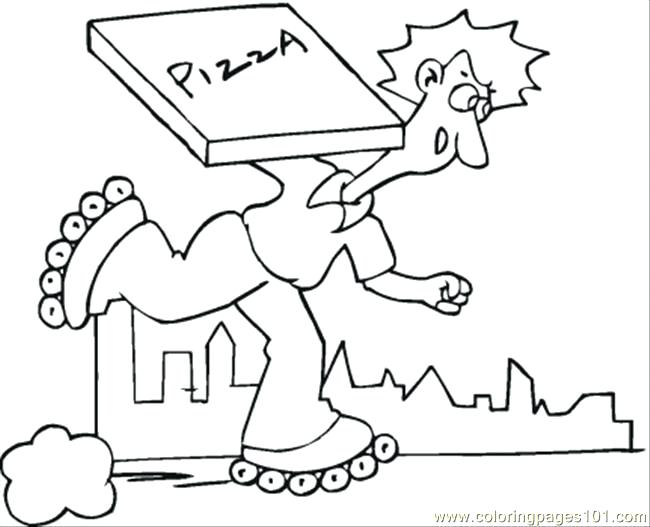 650x527 Delivery Of Pizza Coloring Page Also Delivery Of Pizza Coloring