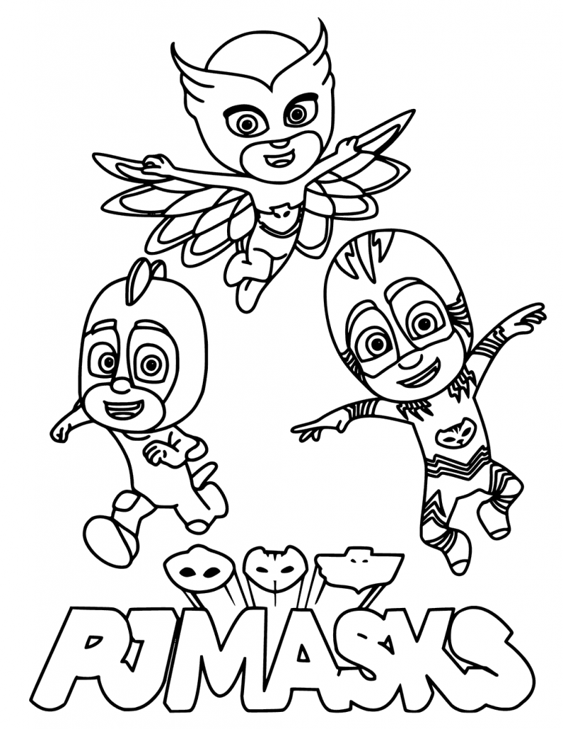 Pj Coloring Pages