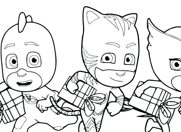 637x465 Pj Mask Coloring Pages Onlycom Printable Masks Coloring Page