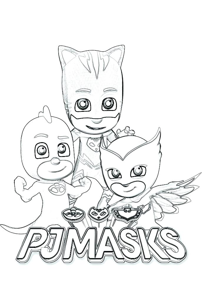 686x966 Pj Mask Coloring Pages Or Masks Coloring Pages Images