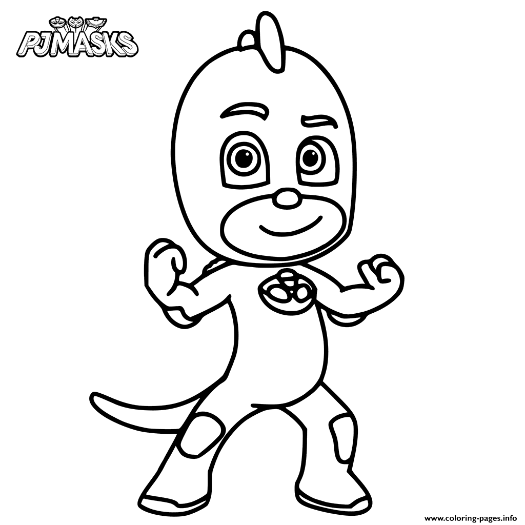 1024x1024 Print Colour In Gekko From Pj Masks Coloring Pages Mouse