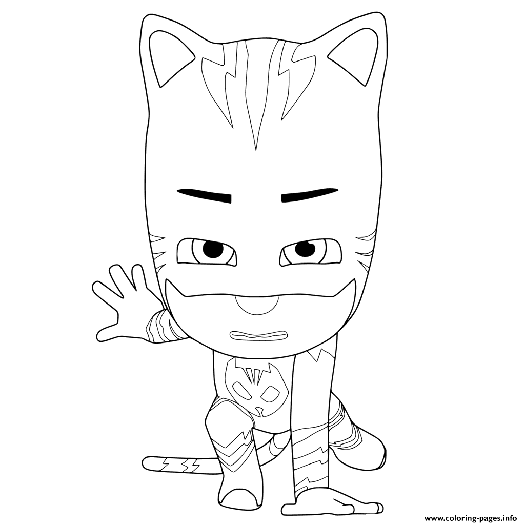 1024x1024 Print Pj Masks Ready To Fight Coloring Pages Vaikams