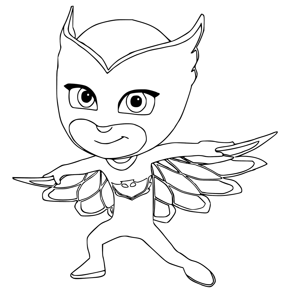 1024x1024 Owlette Colouring Page