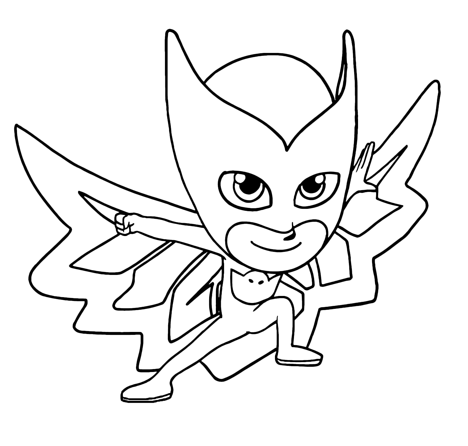 Pj Mask Owlette Coloring Pages