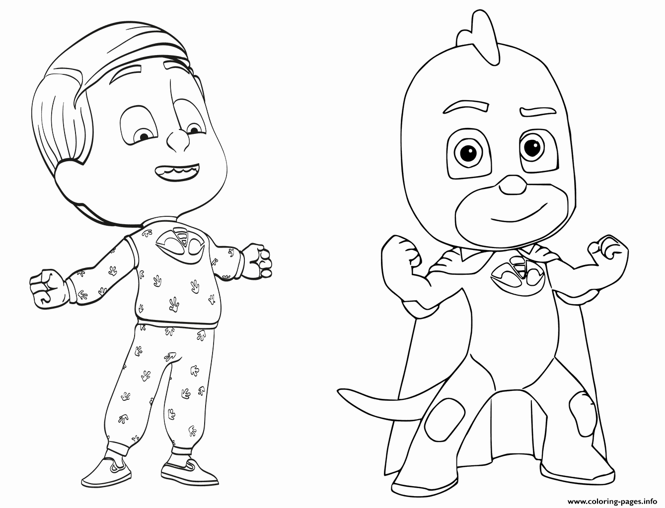 Pj Masks Free Coloring Pages