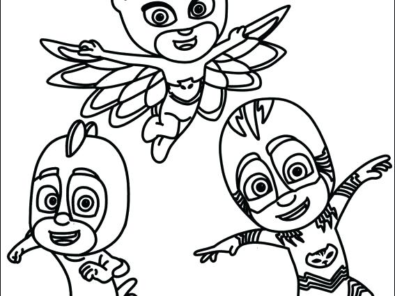 image regarding Pj Masks Printable Coloring Pages known as Pj Masks Printable Coloring Internet pages at  Cost-free