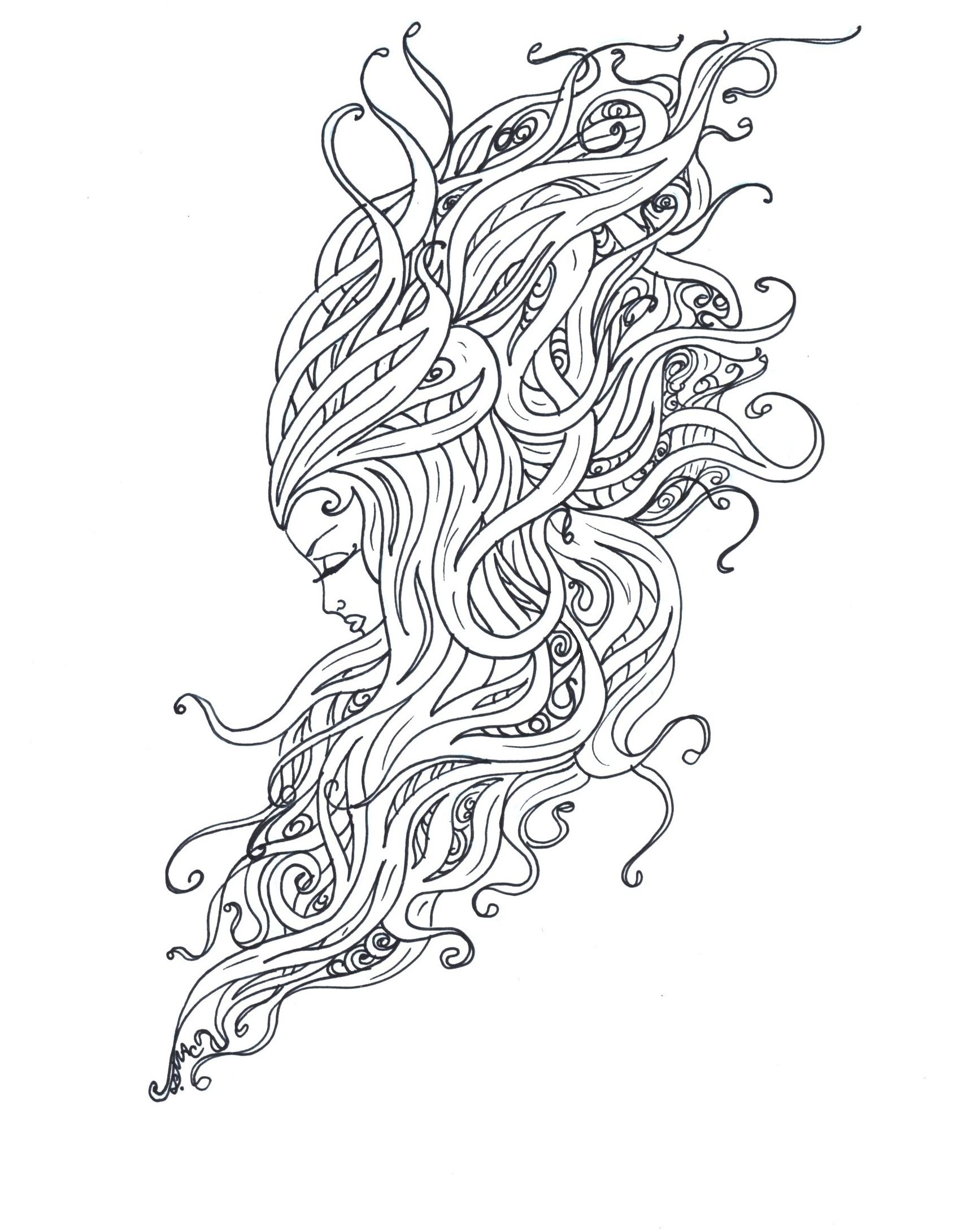1694x2181 Awesome Art Nouveau Coloring Pages S Mac S Place To Be Free