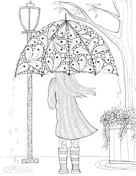 464x600 Coloring Rainy Day Coloring Pages
