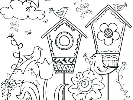 440x330 Spring Coloring Images