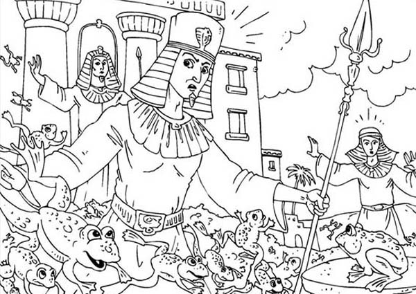 600x425 Frogs Invade Egypt In Plagues Of Egypt Coloring Page Coloring Sun